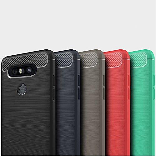 Funda LG X800,Funda Fibra de carbono Alta Calidad Anti-Rasguño y Resistente Huellas Dactilares Totalmente Protectora Caso de Cuero Cover Case Adecuado para el LG X800 D