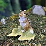 Miniature Fairy Garden Chipmunk On A Leaf For Sale