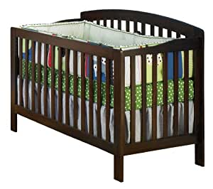 Atlantic Furniture Richmond Convertible Crib, Antique Walnut (Discontinued by Manufacturer)