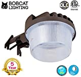Bobcat 30W LED Area Light Dusk to Dawn Photocell Included, 5000K Daylight, 3600LM, Perfect Yard Light or Barn Light, ETL Listed, 260W Incandescent or 70W HID light Equivalent, 5-Year Warranty
