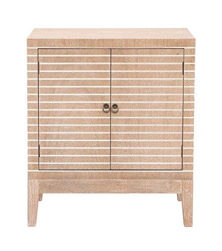 - Benzara Antique Colonial Wonderful Wood Cabinet Light Brown/White