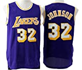 Men's Adult #32 Magic Johnson Jersey Purple L