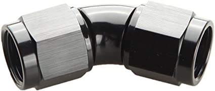 AN-6 To AN6 45 Degree Female To Male Full Flow Adapter Fitting Black
