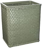 Redmon Chelsea Collection Decorator Color Square Wicker Wastebasket, Sage Green