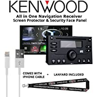 Kenwood Excelon DNX994S In Dash Navigation System 6.95 Touchscreen Display, Built in Bluetooth with a Screen Protector, Security Face Panel, Lightening to USB Adapter and a FREE SOTS Lanyard