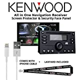 Kenwood Excelon DNX994S In Dash Navigation System 6.95'' Touchscreen Display, Built in Bluetooth with a Screen Protector, Security Face Panel, Lightening to USB Adapter and a FREE SOTS Lanyard