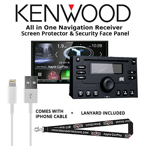 Kenwood Excelon DNX994S In Dash Navigation System 6.95'' Touchscreen Display, Built in Bluetooth with a Screen Protector, Security Face Panel, Lightening to USB Adapter and a FREE SOTS Lanyard by Sound of Tri-State
