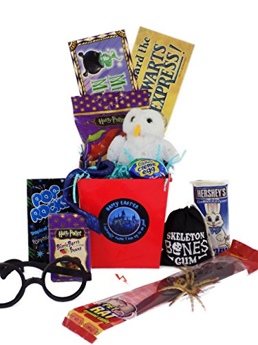 Harry Potter 'I Solemnly Swear I Am up to No Good - Happy Easter ' Candy and Toy Gift Basket - Emmas Treasures Series
