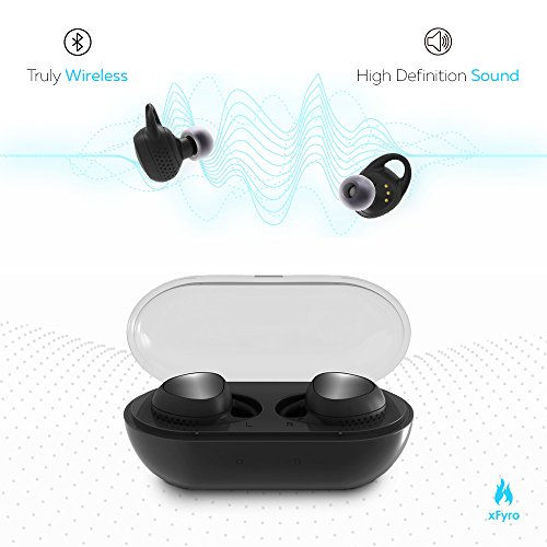 Wireless Earbuds Best Bluetooth Headphones with Microphone IPX7 Waterproof Sweatproof Sports Earphones with Stereo Noise Cancelling Headsets for iPhone and Android Charging Case (Best Syllable Bluetooth Headset With Mics)