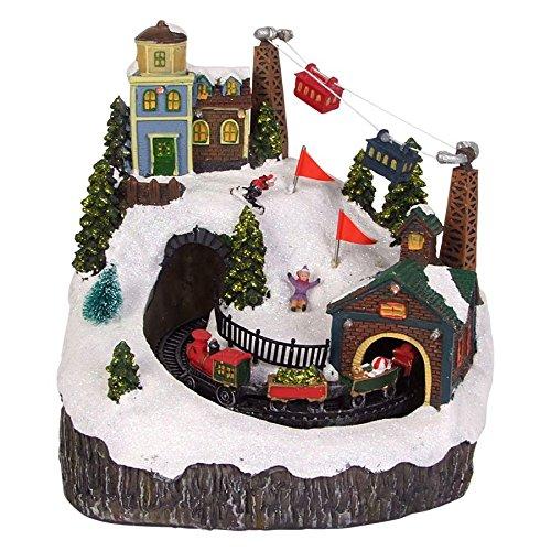 Eisenbahn Weihnachtsdeko.Led Winterlandschaft Eisenbahn Weihnachtsdeko Bahn Zug Berg Musik Winter Schnee