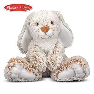 9fd59dc5 Amazon.com: Melissa & Doug Burrow Bunny Rabbit Stuffed Animal ...