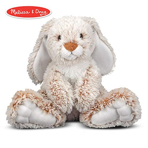 "Melissa & Doug Burrow Bunny Rabbit Stuffed Animal (Washable Surface, Soft Fabric , 9"" H x 10"" L x 6"" W)"