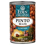 Eden Organic Pinto Beans, No Salt Added, 15-Ounce Cans (Pack of 12) ( Value Bulk Multi-pack)
