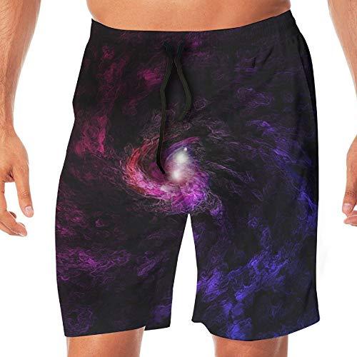 Swirl Jammer - Men's Shorts Trunk Summer Pockets Red Blue Swirl Swim Beach Athletic