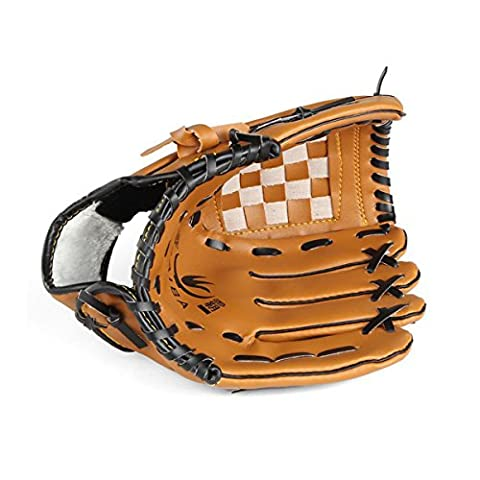 TimeBus Pro Series Worn On The Left Hand Youth & Adult Baseball Glove Mitts, 3 Size (Brown, 11.5'') - Tpx Pitcher Glove