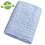 CXMYKE Muslin Baby Towels - Super Water Absorbent for Baby Bath Towels - Soft Newborn Baby Blankets, Medical Grade Natural Antibacterial, Suitable for Baby's Delicate Skin - 41.5×41.5Inches