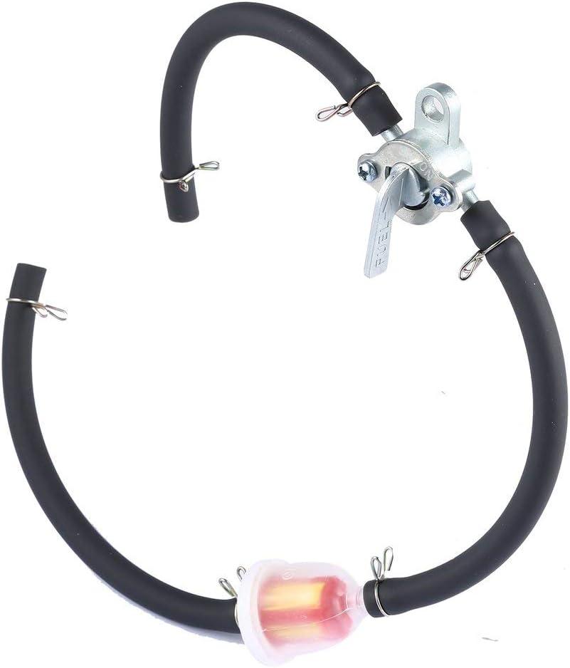 Couleur: ruban Robinet de r/éservoir dessence en ligne Petcock Tuyau pour VTT VTT Moto Dirt Bike Filtre