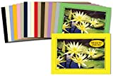 Photographer's Edge, Photo Insert Card Sample Pack, 18 Colored Cards, for 4x6 Photos
