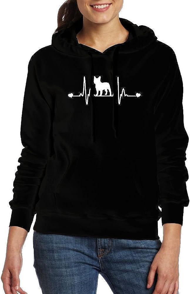 RMM KKK Lady French Bulldog Heartbeat Hoodie Sweatshirts
