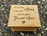 Mother's day gift, Custom made music box with a quote for Mom with your choice of color and song, perfect gift for Mom
