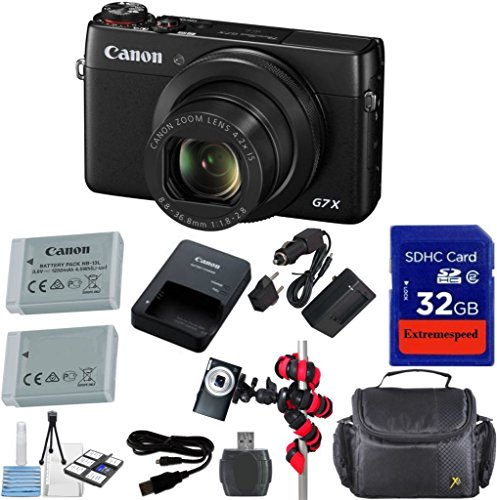 Canon 20.2 MP PowerShot G7 X Digital Camera Bundle with Accessories (8 Items)