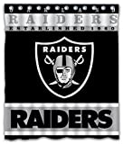 Sonaby Custom Oakland Raiders Waterproof Fabric Shower Curtain For Bathroom Decoration (60x72 Inches)