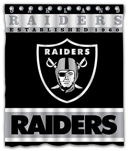 Sonaby Custom Oakland Raiders Waterproof Fabric Shower Curtain For Bathroom Decoration (60x72 Inches) (Raiders Shower Curtain)