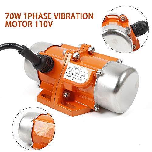 AC Vibration Motor 1 Phase 70W Industrial Vibrating Asynchronous Vibrator Single Phase 110V 3600RPM USA STOCK