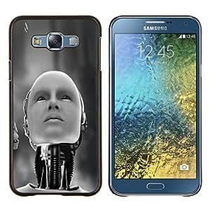 """Be-Star Único Patrón Plástico Duro Fundas Cover Cubre Hard Case Cover Para Samsung Galaxy E7 / SM-E700 ( Robot humanoide"""" )"""