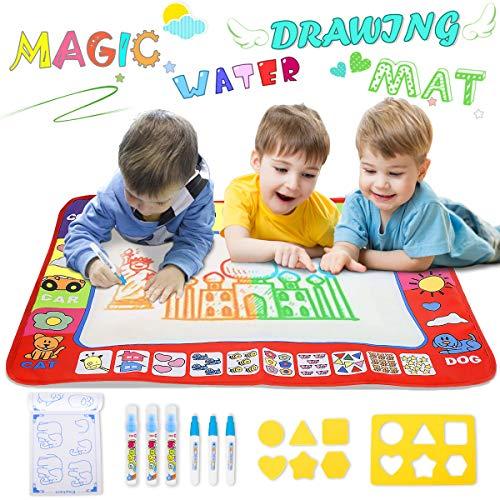 YEEGO Doodle Drawing Mat, Large Size Aqua Doodle Magic Water Painting Doodle Mat 32