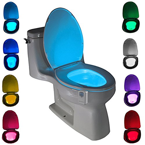 Toilet Night Light , Gold Armour Motion Activated Toilet Night Light Toilet Nightlight, Great for Potty Training (Only Activates in Darkness)