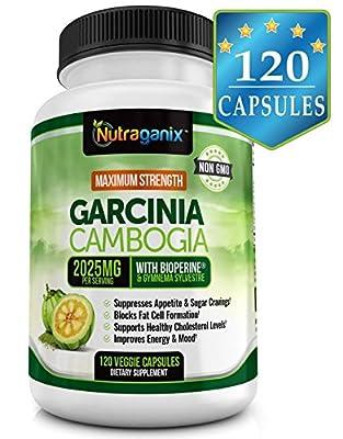 [NEW!] Maximum Strength Garcinia Cambogia Extract 2025mg, 120 Veggie Capsules, Natural Weight Loss, Powerful Appetite Suppression, Non-GMO, Gluten Free, Vegan Friendly