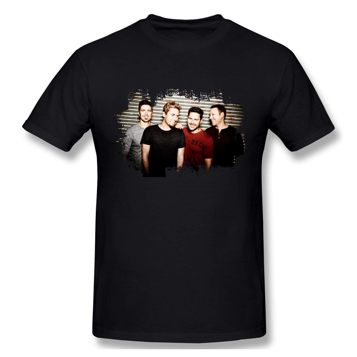 S Print With Nickelback Leisure Outdoor Short Sleeve T Shirts Black