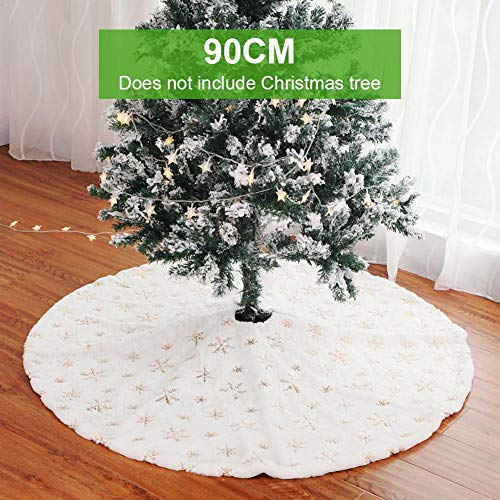 Best Design White Tree Skirt Grade Plush