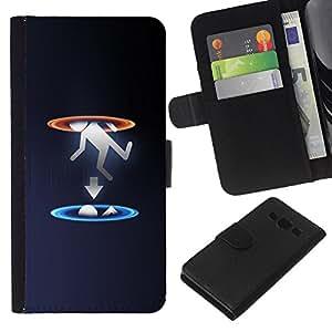 LECELL--Cuero de la tarjeta la carpeta del tirón Smartphone Slots Protección Holder For Samsung Galaxy A3 -- Portal gota --