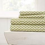 Premium - Ultra Soft - 3 Piece Bed Sheet Sets/Puffed Chevron/Sage/Twin