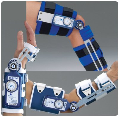 DeROM Dynamic Range of Motion Splints - Elbow Splint, Left, Size D, bicep circumference 12+'' by Rolyn Prest