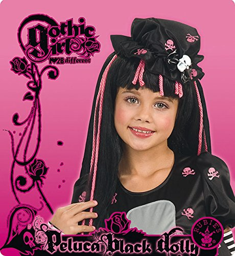 [Goth Doll-ista Wig by Rubie's] (Voodoo Doll Costume Child)