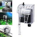 Aquarium Power Filter Waterfall Water Pump Circulation Fish Tank Mini External Hanging Filter Device