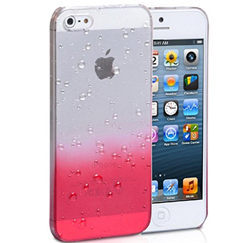 Mobile Case Mate iPhone 4 4s Coque couverture Case Cover clair and rouge Goutte de pluie Goutte d'eau
