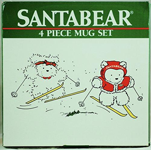 1987-dayton-hudson-marshall-fields-santabear-4-piece-mug-set-oop-very-rare-collectible