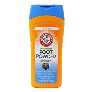 Arm & Hammer Foot Powder Odor Eliminator and Moisture Absorber For Shoes and Work Boots - 1 Pack