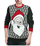 Product review for Alion Men's Autumn Casual Santa Ugly Christmas Round Neck Sweater