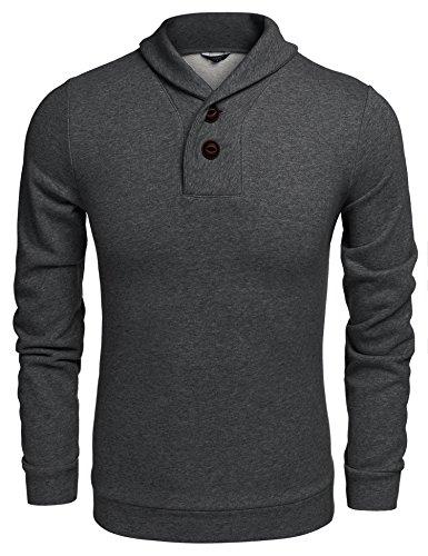 Button Pullover Sweatshirt - 6