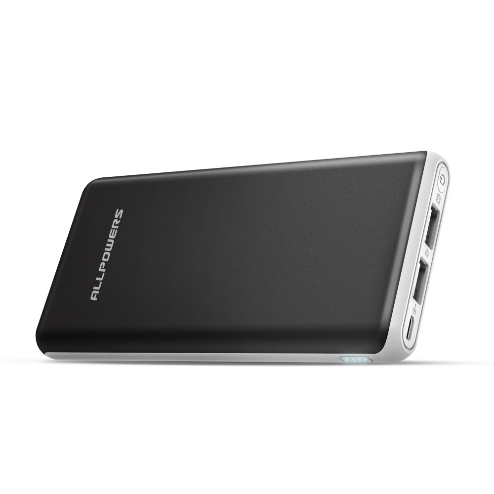ALLPOWERS Portable Charger 22000mAh External Battery Power Bank with Dual 2.4A Output and 2A Input, iPower Tech for Cell Phones, iPhone, iPad, Samsung and More AP-PB-010-BLA