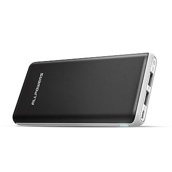 ALLPOWERS Power Bank 20000mAh Batería Externa Power Bank Cargador portátil Extra Compacto 2.4 A Salida para iPhone7 iPad, Samsung, Otros más de ...