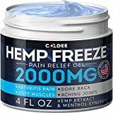 Pain Relief Hemp Oil Gel - 2000 MG, 4 OZ - Max Strength