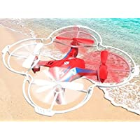 K&A Company FINECO Fx-4v 2.4G 5CH RC Quadcopter Drone with Voice Control 3D Flips RTF Red