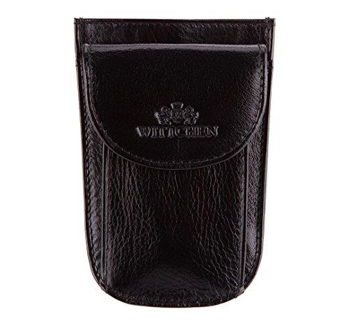 WITTCHEN caso, Nero, Dimensione: 11.5x7.5 cm - Materiale: Pelle di grano - 21-2-014-1