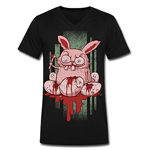 Easter Bunny V-neck Male Sport Shirt Men's Fashion (Halloween Bunny Makeup)
